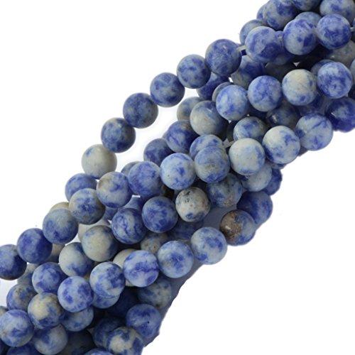 6mm Opaco Natura Macchia Blu Diaspro Della Pietra Preziosa Branelli Allentati Del Distanziatore 15 Pollici (6 Mm Opaco)