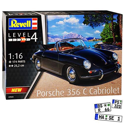 Schwarz 1963-1965 07043 Bausatz Kit 1/16 1/18 Revell Modell Auto mit individiuellem Wunschkennzeichen ()