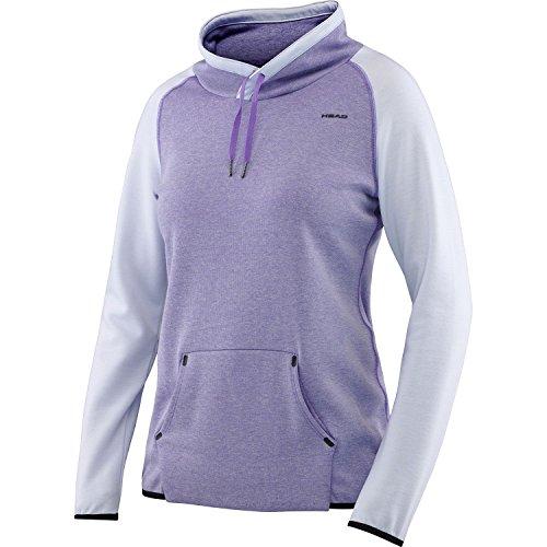 HEAD Damen Sweatshirt Transition W T4S Crew Violett, L Tennis-damen-sweatshirt