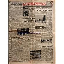 PETITE GIRONDE (LA) [No 25483] du 06/07/1942 - LA SOUDURE EST ASSUREE SI CHACUN Y MET DU SIEN DECLARE A LA PRESSE M LEROY-LADURIE PAR A DE W - PROPOS EUROPEENS - LA VERITE SUR LES DEBARQUEMENT ANGLAIS ET LE SALUT DE LA FRANCE PAR LE MARIN DE VEILLE - CE SOIR - LE MARECHAL QUITTE VICHY A DESTINATION DE TULLE - TRAVAILLEURS EN CONGE - AIDEZ AUX TRAVAUX DE LA TERRE - ET VOUS AUREZ DROIT A 25 KILOS DE POMMES DE TERRE PAR MEMBRE DE VOTRE FAMILLE - LE TRANSPORT DES BAGAGES ET DES BICYCLETTES NE PEUT