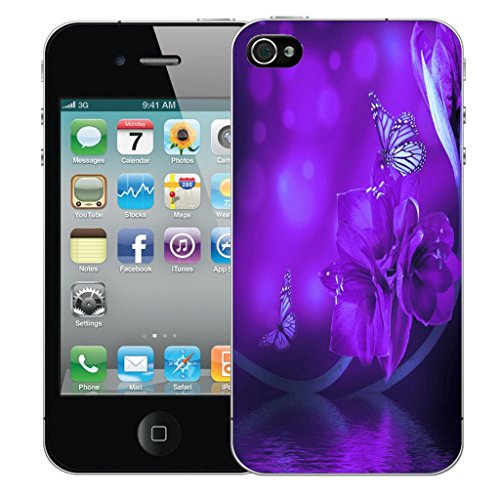Mobile Case Mate iPhone 5s clip on Dur Coque couverture case cover Pare-chocs - water flower Motif water flower