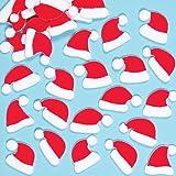 Cappelli di Babbo Natale in Feltro Adesivo per Bambini, per Creazioni Fai Da Te Natalizie (confezione da 100)