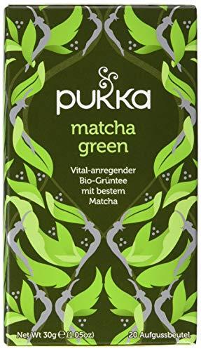 Pukka Bio-Tee Matcha Green, 80 Teebeutel, 4er Pack (4 x 20 Stück)
