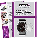 Uhr 34 mm Durchmesser Schutzfolie - 6x dipos Displayschutzfolie Folie klar