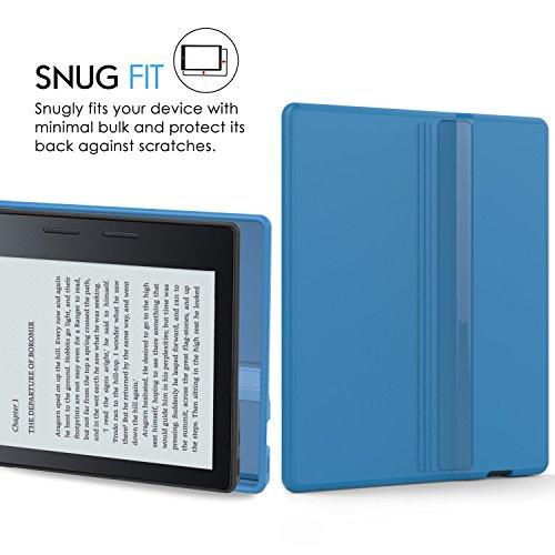 MoKo Etui Amazon Kindle Oasis- Coque Premium Flexible TPU pour Amazon Nouveau Kindle Oasis (8ème génération,modèle 2016), NOIR Bleu
