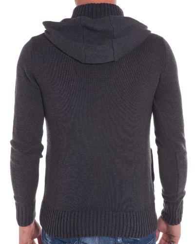 BLZ jeans - Gilet tendance et fashion gris foncé Gris