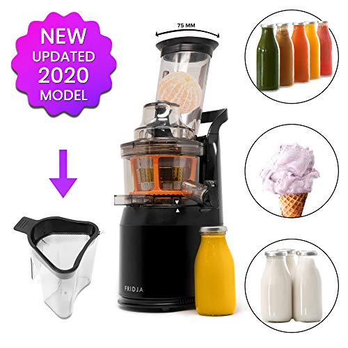 Fruta y Vegetal Cold Press Extractor de Jugo Slow Juicer, Sorbete y Helado de Frutas - Boca...