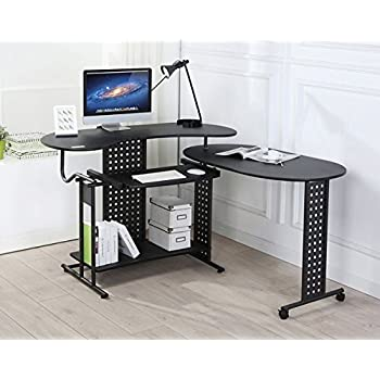 folding office desk. folding corner pc computer home office desk study table workstation with sliding keyboard 120 x