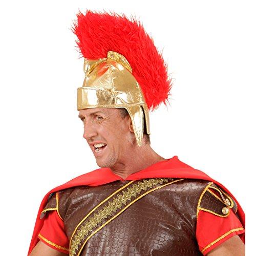Amakando Römerhelm Gelea römische Legion Römer Rüstung Zubehör Krieger Helm Centurio Kopfbedeckung Faschingskostüm Zubehör Römerparty