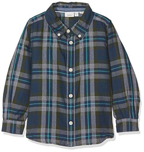 NAME IT NAME IT Baby-Jungen Hemd NITILIAS LS Shirt Mini, Mehrfarbig (Kombu Green), 92