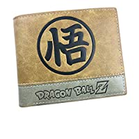 Anime Son Goku Men Women Boys Girls Short Leather Bi Fold Wallet Purse Money Holder