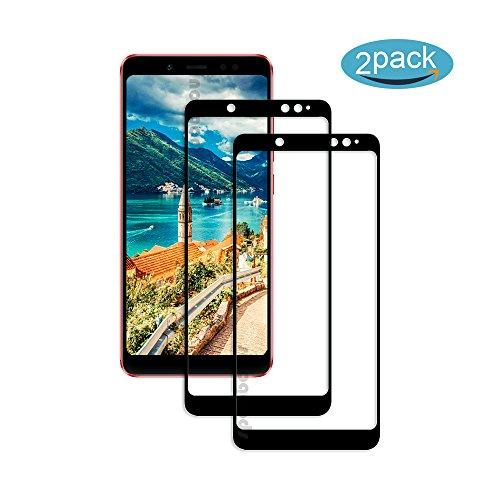 [2 Pack] Für Xiaomi Redmi Note 5 Panzerglas Schutzfolie (Schwarz), Bildschirmschutzglas Panzerfolie für Xiaomi Redmi Note 5 Schutzglas Folie [Ultra-klar] [9H Härte] [Kristallklar] [Bubble Free]