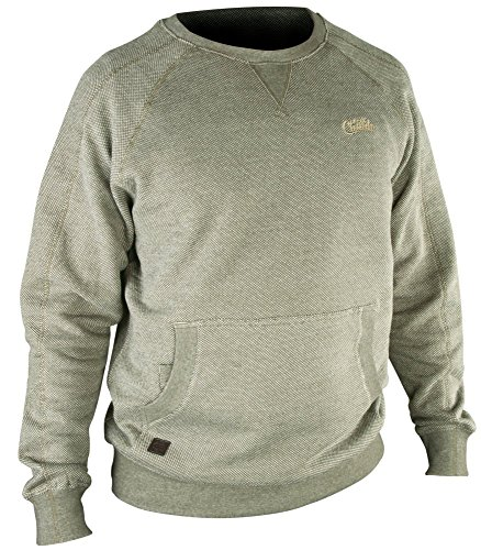 Fox Chunk Crew Sweatshirt Olive Marl Angelpullover, Pullover für Angler, Angelpulli, Angelbekleidung, Karpfenangeln