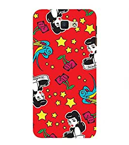 FIOBS Cartoon Lady Abstract Designer Back Case Cover for Samsung Galaxy On Nxt (2016)