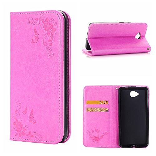 Nokia N650 Ledertasche Hülle,EVERGREENBUYING - Blumenmuster Handyhülle RM-1154 Aufklappbare Leder Schutzhülle im Flip Etui Cover Style Für Microsoft Lumia 650 Weiß Rosa