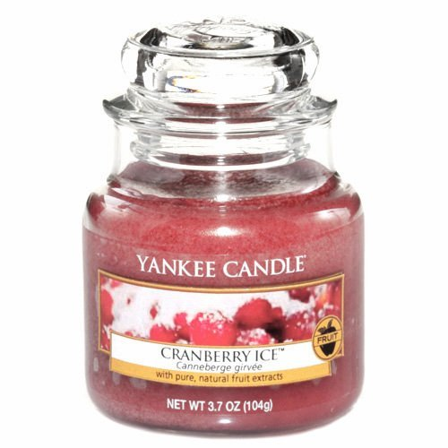 Yankee Candle Glaskerze, klein, Cranberry Ice -