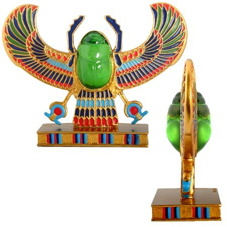 Egyptian Winged Scarab Collectible Ancient Egypt Figurine by Summit