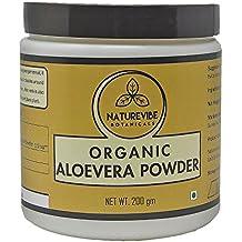 Naturevibe Botanicals Organic Aloevera Powder - 200gms - Aloe Barbadensis | Hair Growth | Boosts Immune system | Promotes Skin.