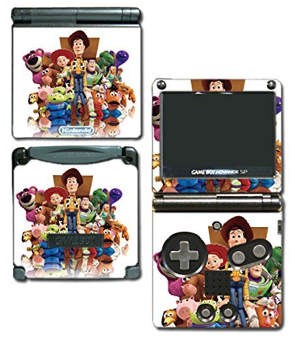 Toy Story 1 2 3 4 Buzz Lightyear Woody Jessie Barbie Ken Mr Potato Head Rex Video Game Vinyl Decal Skin Sticker Cover for Nintendo GBA SP Gameboy Advance System by Vinyl Skin Designs