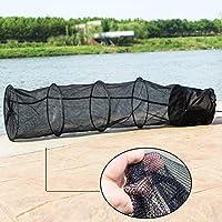 ShenYo - Red de Pesca Plegable con Cremallera DE 1,5 m con 5 Capas, Accesorios de Pesca para Pesca, Negro