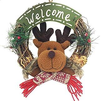XONOR Guirnalda de Navidad para la Puerta Delantera, guirnaldas de la Puerta de 23 cm Decoración de Carro de Pared de Navidad para el hogar