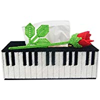 WEEKDEGY Caja de pañuelos DIY de Estilo Europeo de Punto de Cruz de Sala de Estar