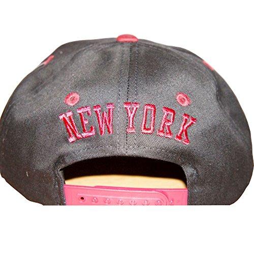 Casquettes Pour Enfants, Ethos Visière Plate, New york, Los Angeles Baseball Danse, NY, LA NEW YORK NY Noir/Marron
