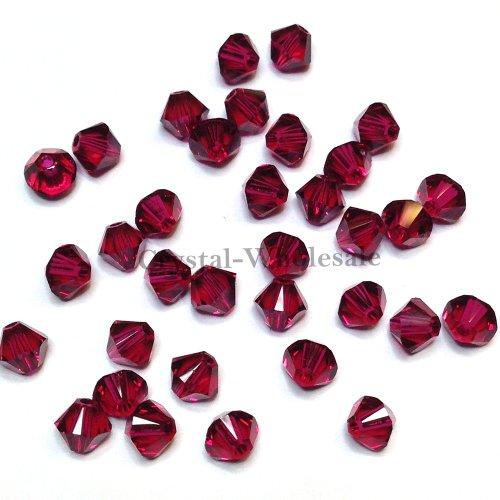 Swarovski 5301 Bicone (36 pcs Swarovski crystal 5328 / 5301 6mm RUBY (501) Genuine Loose Bicone Beads **FREE Shipping from Mychobos (Crystal-Wholesale)**)