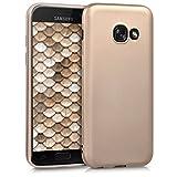 kwmobile Samsung Galaxy A3 (2017) Hülle - Handyhülle für Samsung Galaxy A3 (2017) - Handy Case in Metallic Gold
