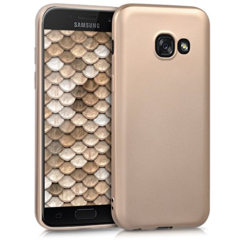 kwmobile Samsung Galaxy A3 (2017) Hülle - Handyhülle für Samsung Galaxy A3 (2017) - Handy Case in Metallic Gold