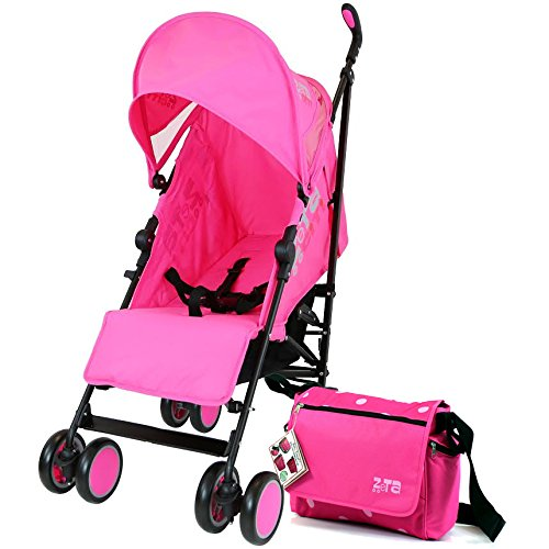 Zeta Citi Stroller Buggy Pushchair - Raspberry Pink Complete With Bag
