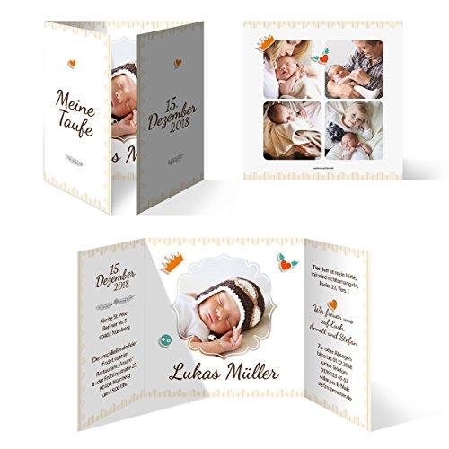 20 x Taufkarten Taufeinladungen Einladungskarten Taufe Einladung - Federnkönig