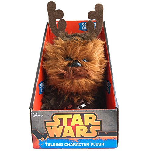 Star Wars 00791J Xmas Chewbacca Talking Plush Toy (Medium)