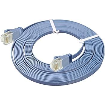 Kabel Lan dünne CAT6 a Flach Netzwerkkabel: Amazon.de