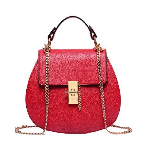 Borsa Yy.f Maiale Mini Bag Borsa Catena Pelle Goffrata Tracolla Messenger Borse Da Donna Borse Multicolori Estrinseca La Moda Intrinseca E Pratico Red