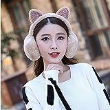 automne hiver et hiver oreillères chaud mignon oreilles de chat en peluche dames cache-oreilles cache-oreilles des femmes des cheveux avec cache-oreilles en strass