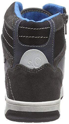 s.Oliver 45303, Baskets hautes garçon Gris - Grau (Grey 200)