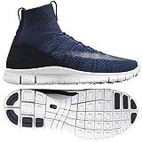 Nike Herren Free Flyknit Mercurial Fußballschuhe, Schwarz/Blau/Weiß (DRK Obsidian/Wht Sqdrn Bl-SMMT), 44 EU