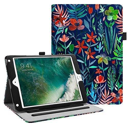 Fintie Hülle für iPad 9.7 Zoll 2018 2017 / iPad Air 2 / iPad Air - [Eckenschutz] Multi-Winkel Betrachtung Folio Stand Schutzhülle Case mit Dokumentschlitze, Auto Wake/Sleep, Dschungelnacht