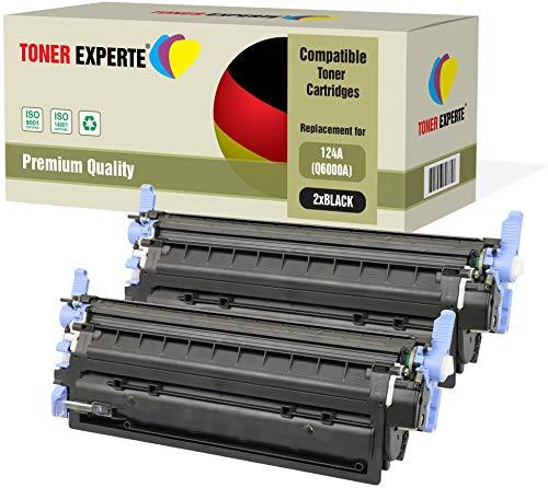 2er Pack TONER EXPERTE® Schwarz Premium Toner kompatibel zu HP Q6000A 124A für HP Color Laserjet 1600 1600n 2600 2600n 2600dn 2605 2605d 2605dn 2605dtn CM1015 CM1017 MFP -