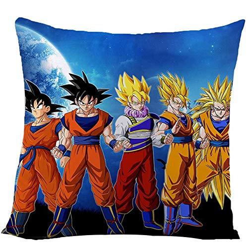 Zhongjiany Anime Dragon Ball Super Funda de Almohada Funda de cojín 16 x 16 Pulgadas