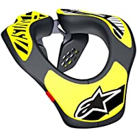 Protection Collier Enfant Alpinestars Youth Neck Support OS BLACK YELLOW FLUO