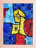Idea Regalo Originale Natale/Compleanno: SENTINELA ASTRALE Ernst Paul Klee - Kit mosaico fai da te 32x23 cm - Tessere di mosaico in Vetri di Murano-Venezia - Hobby creativi