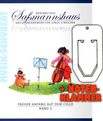 Früher Anfang auf dem Cello Band 1 inkl. praktischer Notenklammer - Das Standardwerk für junge Streicher ab 4 Jahre mit großer Notenschrift und farbigen Illustrationen (broschiert) von Egon Saßmannshaus (Noten/Sheetmusic)