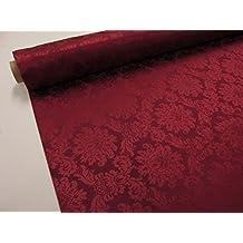 Confección Saymi Tela Raso Brocado, 2,45 MTS Ref. Colino, Color Rojo