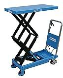 HanseLifter SPS350 mobiler Hubtisch mit 350kg Tragfähigkeit und Doppelschere, Lichtblau