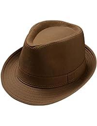 Kentop Jazz Sombrero Fedora sombrero sombrero de paja sombrero Panama Fedora sombrero sombrero, Negro, 58 cm