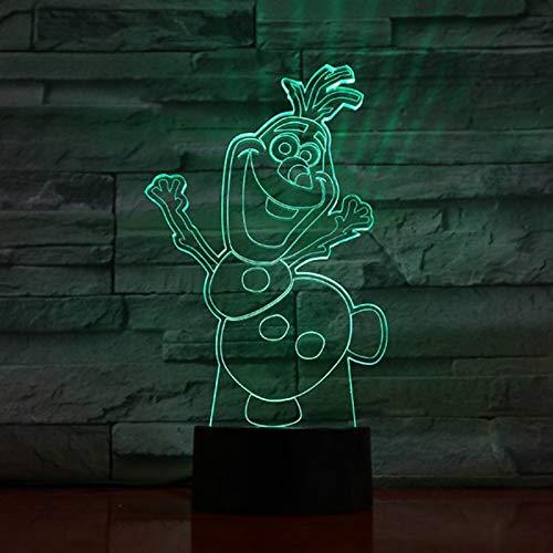 Fantastisches Babybleinachtlicht-Schneemann Olaf-Nachtlicht für das batteriebetriebene schöne Licht der Nacht 3d der Kinderschlafzimmerdekoration eingefroren (Kinder Eingefroren Auto)