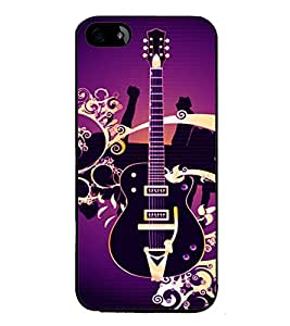 printtech musicGuitar Colored Pattern Back Case Cover for Apple iPhone 5C