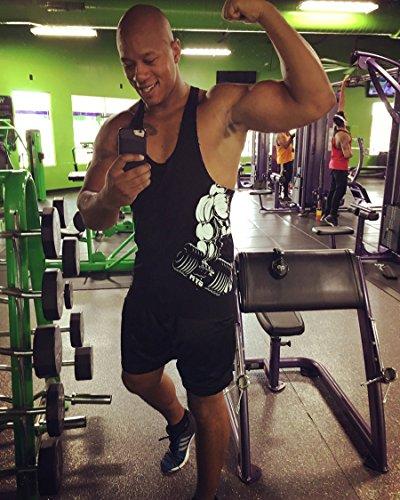 HASIDING Herren Fitness Workout Y-Back Tank Top Vest Schwarz-HD113